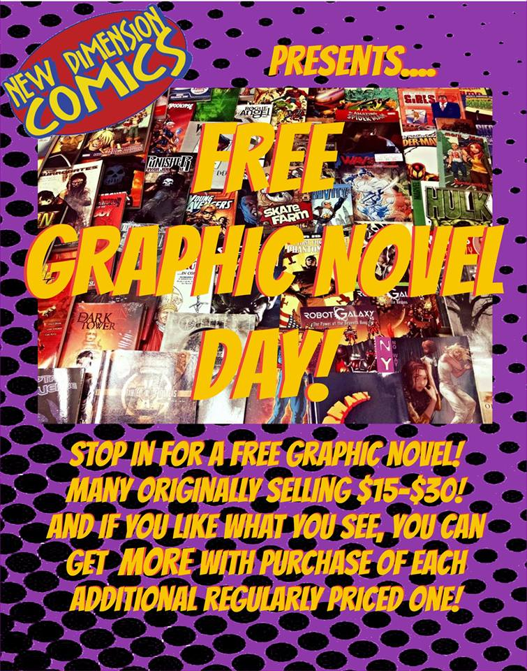 Free Graphic Novel Day – Saturday Sept 3, 2016 – All Locations!
